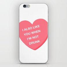 Drunk valentine iPhone & iPod Skin