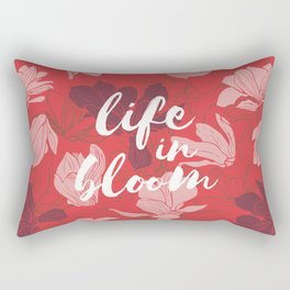 Life in bloom - coral red Rectangular Pillow