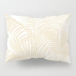 Modern tropical elegant ivory palm tree pattern Pillow Sham