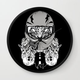 rubber burner rider Wall Clock