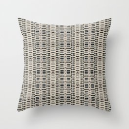 Ceramic Off-White and Blue Textured Pattern Throw Pillow