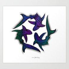 SHARK CIRCLE II Art Print