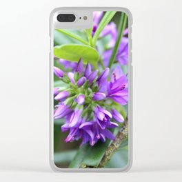 Purple Paradise Clear iPhone Case