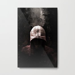 Modern Assassin Hood - Color Metal Print