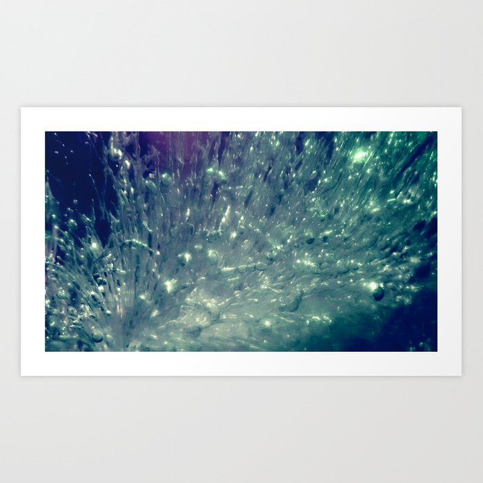 Ice Bubble Explosion Art Print