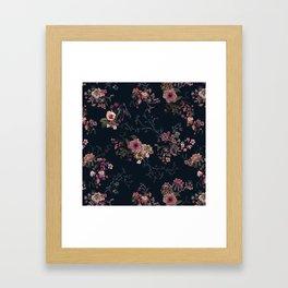 Japanese Boho Floral Framed Art Print
