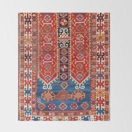 Kazak Southwest Caucasus Carpet Fragment Print Throw Blanket