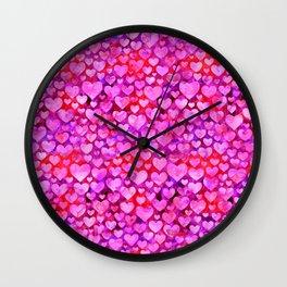 Heart Pattern 08 Wall Clock