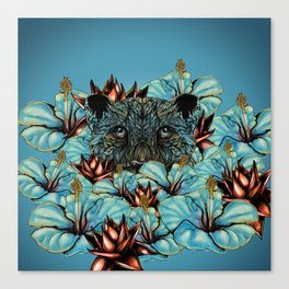 The Tiger and the Flower Canvas Print
