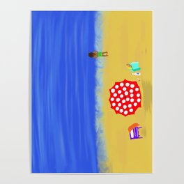 Bliss on the Beach! Poster