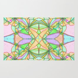 217 - Abstract distressed colourful design Rug