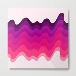 Retro Ripple in Pinks Metal Print