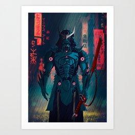 077 Samurai 2077 Art Print