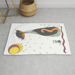 Cat & Mouse Ponder the Universe Rug