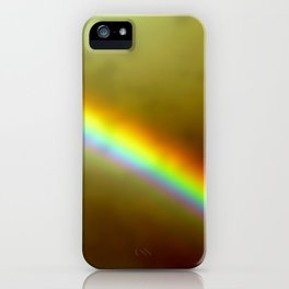 in rainbows iPhone Case
