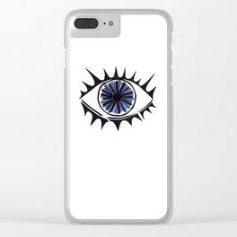 Blue Eye Warding Off Evil Clear iPhone Case