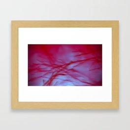 Pink Tree Blur Framed Art Print