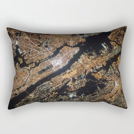 New York City Lights Rectangular Pillow