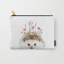 Hedgehog with Flower Crown Carry-All Pouch