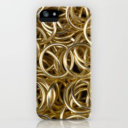 Gold Rings iPhone Case