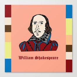 William Shakespeare - hand-drawn portrait Canvas Print