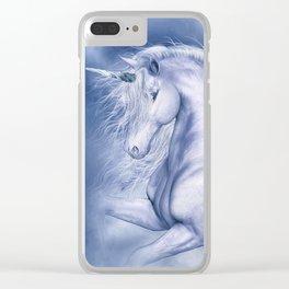 Blue Fantasia Clear iPhone Case