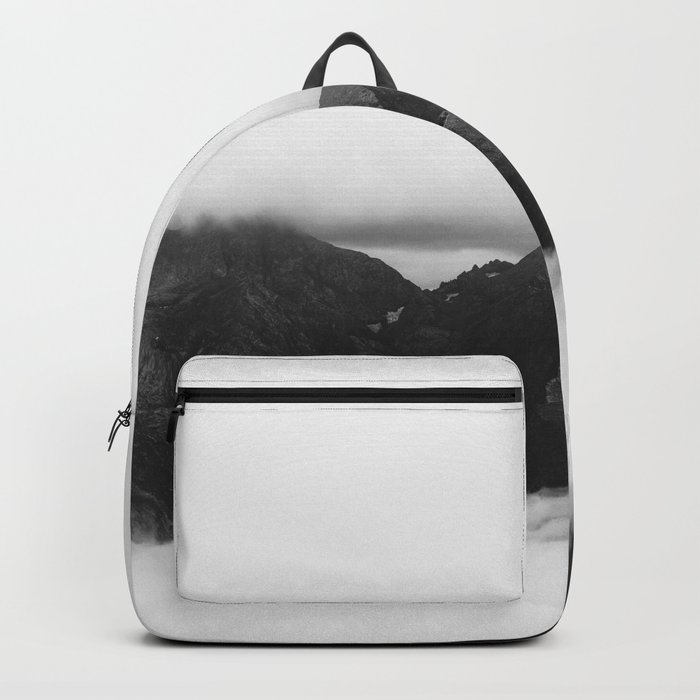 mountain (black and white) Backpack