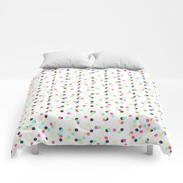 Retro 80's 90's Inspired Colorful Polka Dots Comforters