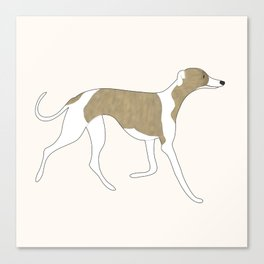 The Walking Whippet Canvas Print