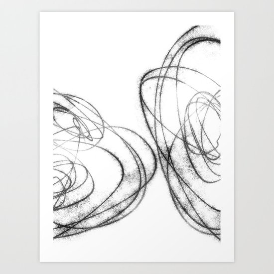 Minimalist Abstract Line Drawing in Black and White by mininst