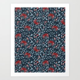 Joan Print- in Be Strong Blue Art Print