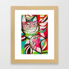 Cat Interplay 3 Framed Art Print