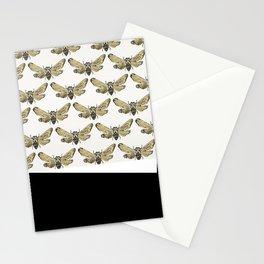 Summer Cicada – Black & Gold Palette Stationery Cards