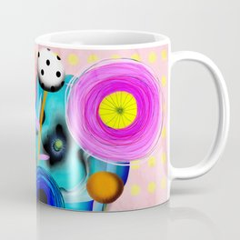 Yellow Polka Dots Floral Bouquet Coffee Mug