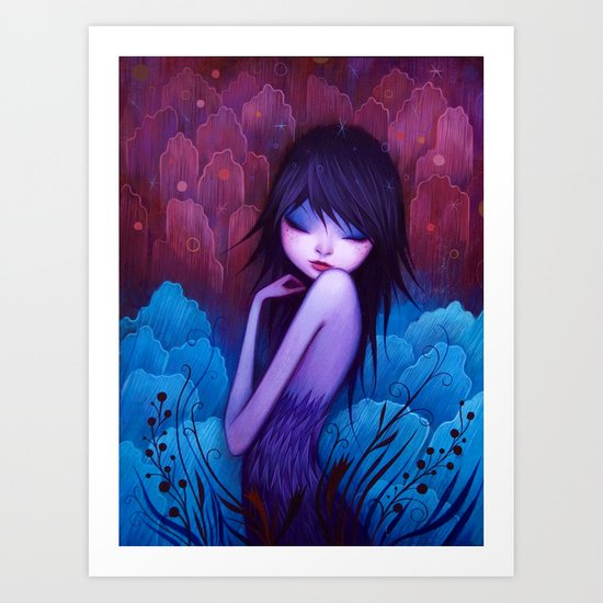 She Knows Art Print