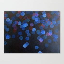 No. 45 - Print of Deep Blue Bokeh Inspired Modern Abstract Painting  Canvas Print