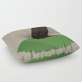 A lone Moai Floor Pillow