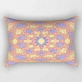 Arabesque 3D - Color: Sunset Hues Rectangular Pillow