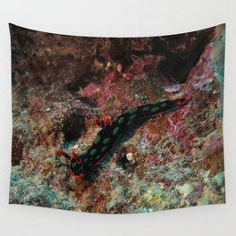 Red and green nembrotha Wall Tapestry
