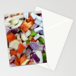 Onions and Bell Peppers Stationery Cards