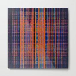 Orange grunge stripes pattern Metal Print