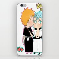 bleach iPhone & iPod Skins featuring BLEACH GrimmIchi by PrincessBBree