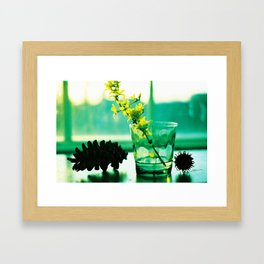 Pine Cone and Cup Framed Art Print