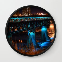 Popsicle Stick Bridge Wall Clock