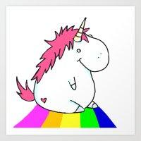 Unicorn XL Art Print