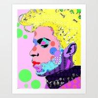 prince Art Prints featuring Prince by Ricky Sencion