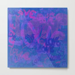 bluelove, variation on redlove Metal Print