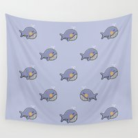 whales Wall Tapestries featuring whales by Jarvis Glasses