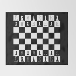 Chess Board Layout Throw Blanket