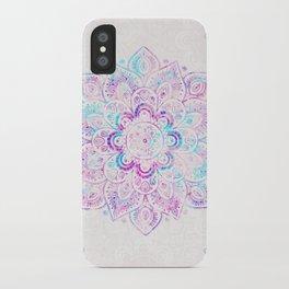 Winter Fiery Mandala iPhone Case
